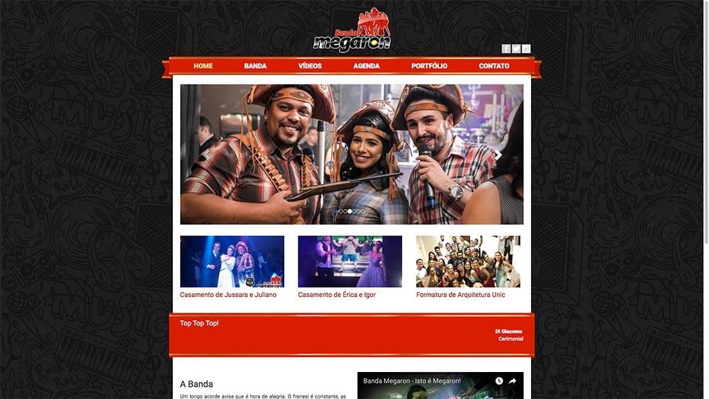 Sizy.com.br - Portfólio - Banda Megaron - Site responsivo