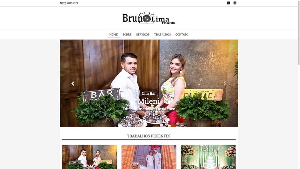 Sizy.com.br - Portfólio - Bruno Lima Fotografia - Site responsivo