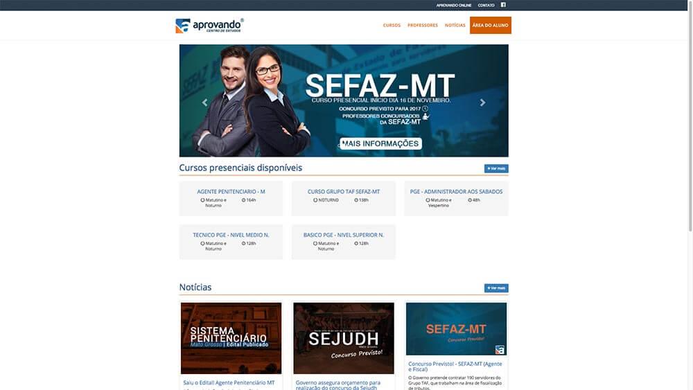 Sizy.com.br - Portfólio - Aprovando - Site do curso presencial