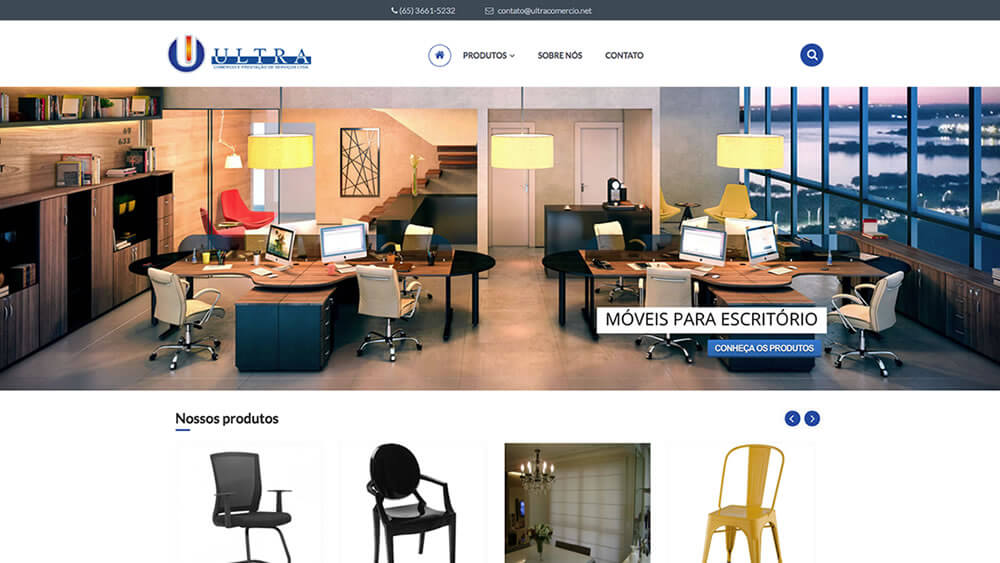 Sizy.com.br - Portfólio - Ultra Comércio - Site responsivo
