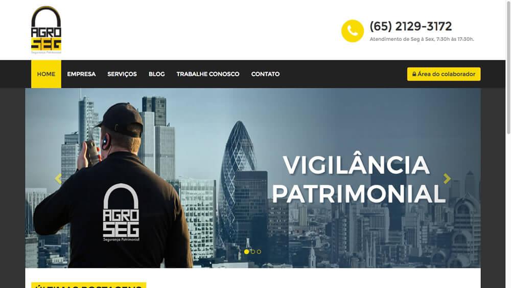 Sizy.com.br - Portfólio - AgroSeg - Site responsivo