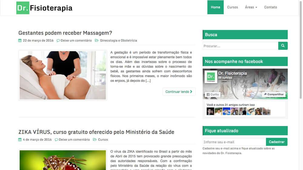Sizy.com.br - Portfólio - Dr. Fisioterapia - Site responsivo