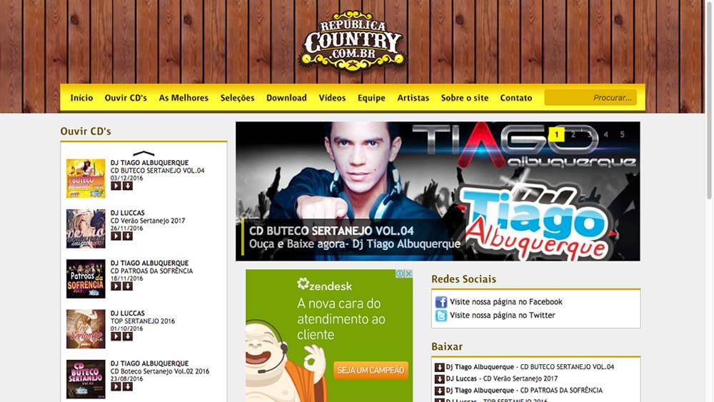 Sizy.com.br - Portfólio - República Country - Site responsivo