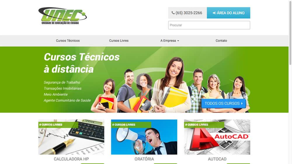 Sizy.com.br - Portfólio - UNEC - Site responsivo